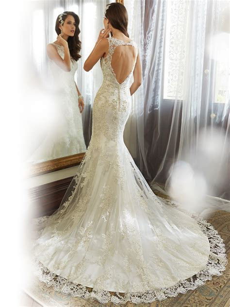 Sheath Wedding Gown with Bateau Neckline