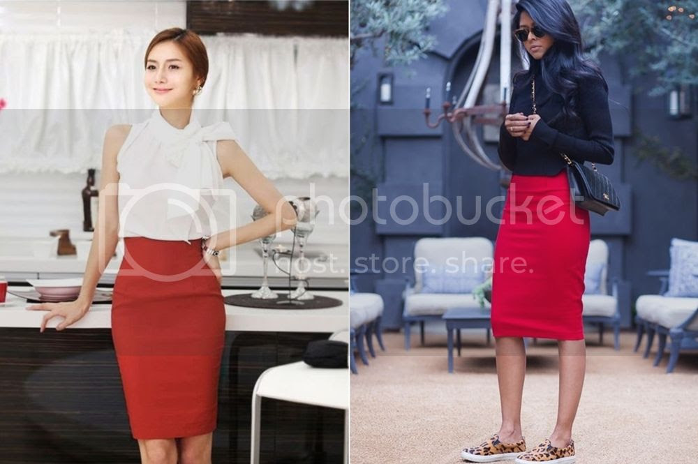 Top 3 reasons for red skirts - red Pencil Skirts Picture  posted by Annie K, Fashion and Lifestyle Blogger, Founder, CEO and writer of ANNIES BEAUTY HOUSE - a german fashion and beauty blog