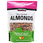 Kirkland Signature Dry Roasted Almonds, 2.5 lbs