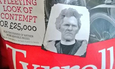 RS Thomas on a packet of Tyrrells crisps