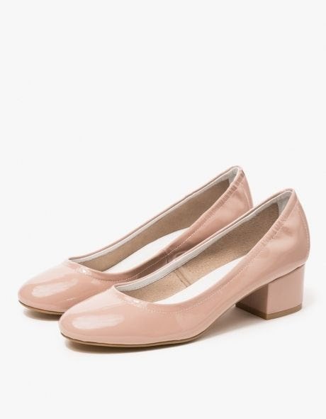 Jeffrey Campbell Bitsie Pump in Taupe Patent