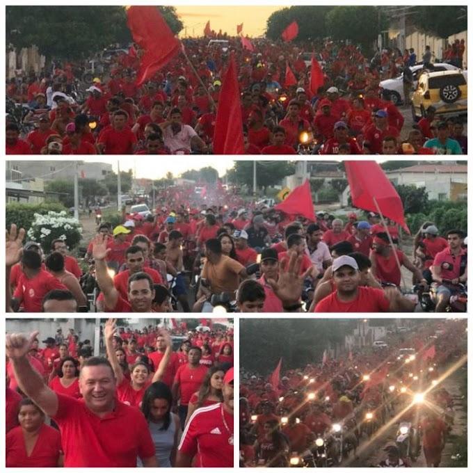 Vermelho fez movimentação grande em São José do Campestre