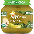 Happy Baby Organics Baby Food, Organic, Pears & Kale, Stage 2 (6+ Months) - 4 oz