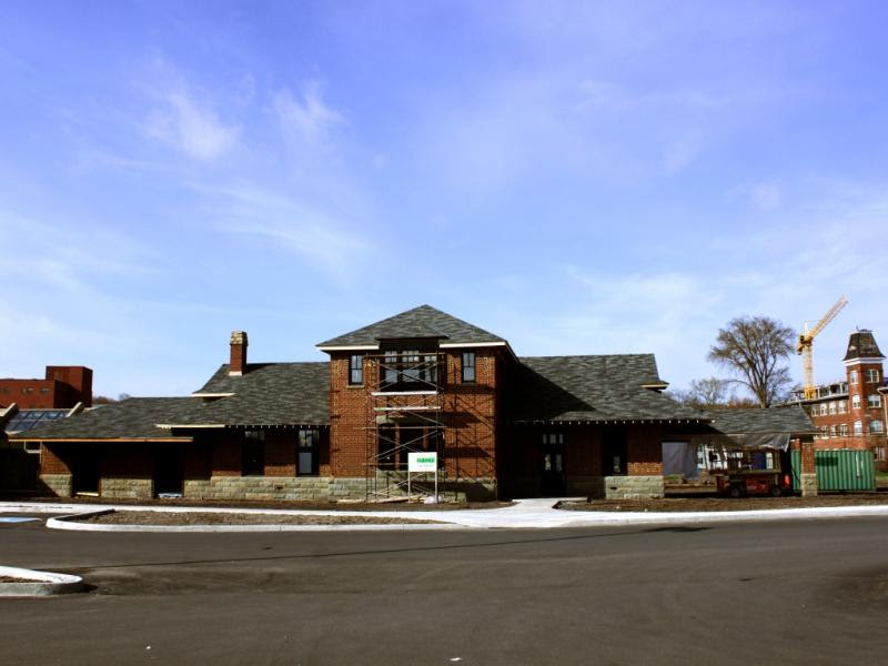 Fredericton train station and Hartt shoe factory
