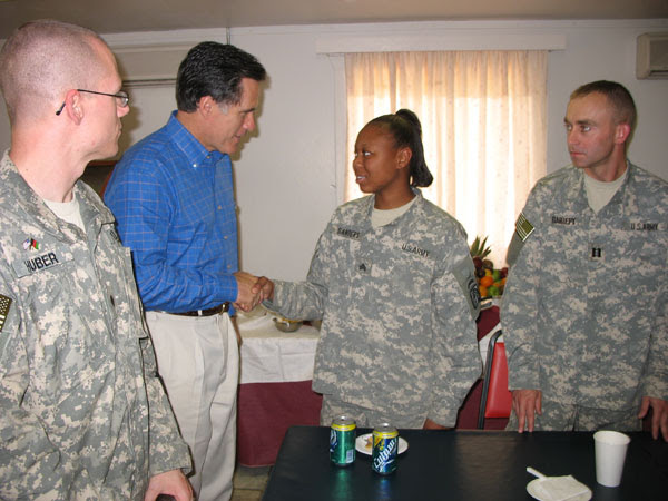 "romney soldiers Romney's lead among veterans a ""Big deal"""