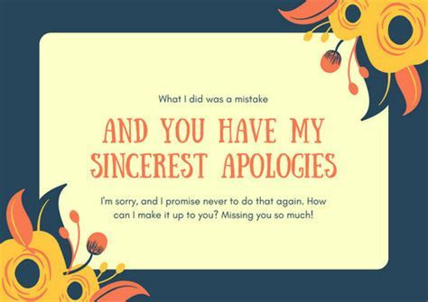 Customize 50  Apology Card templates online   Canva