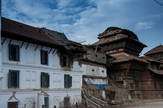 Basantapur temples after Nepal Earthquake 2015
