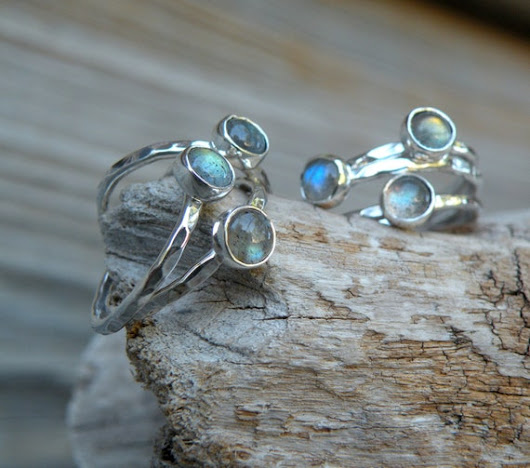 Daily treat - small labradorite rings