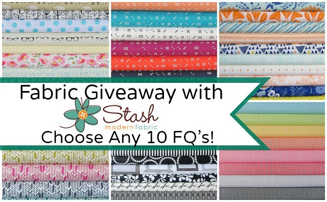 Fabric Giveaway Friday -- Coose any 10 FQ's from Stash Fabrics!