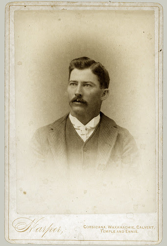 Cabinet Card man with moustache