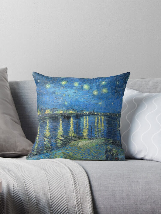 'Starry Night Over the Rhone' Throw Pillow by Igor Drondin