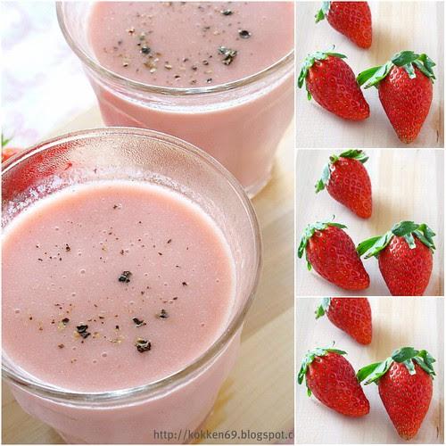 Strawberry Lassi Collage