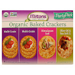 Milton's Craft Bakers Organic Baked Crackers, Variety Pack, 4-count