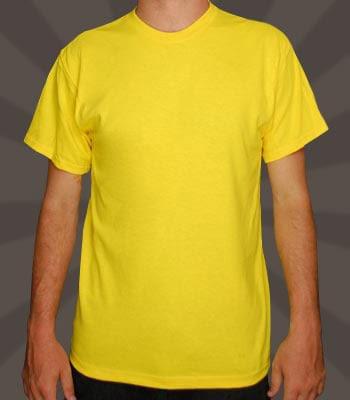 Blank Yellow T Shirt