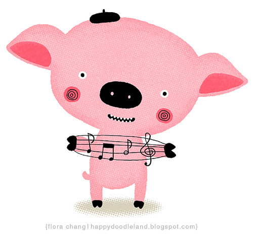 Mr. Piggy Plays Music