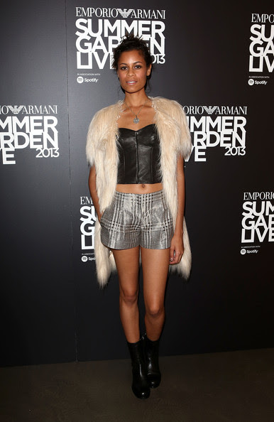 Aluna Francis attends Emporio Armani's Summer Garden Live 2013 on July 16, 2013 in London, England.