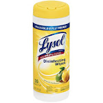 Lemon Lime Blossom Lysol Sanitizing Wipes -PACK 4