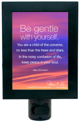 Be Gentle With Yourself Inspirational Quote Night Light Pet Night