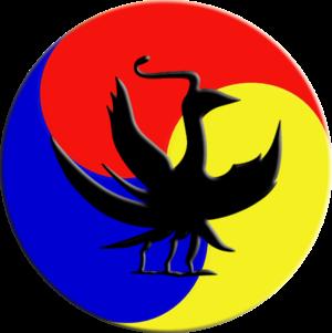 Samjogo (three-foot crow), a representative sy...