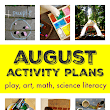August activity plans :: things to do in August with kids - NurtureStore