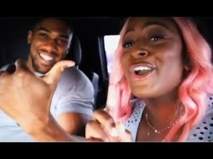 [ENTERTAINMENT] DJ Cuppy, Anthony Joshua Mock Each Other As They Try To Speak Yoruba (Video)