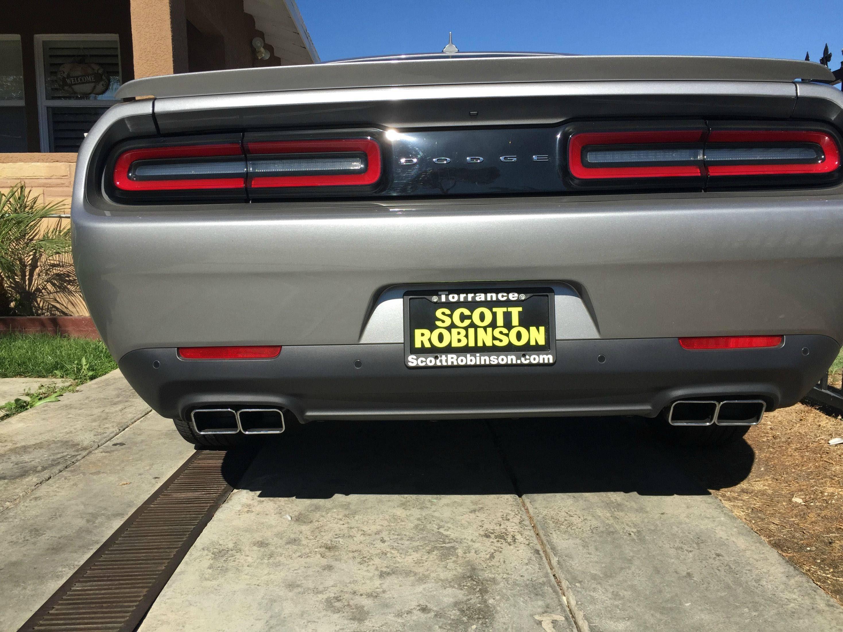 dodge challenger exhaust tips