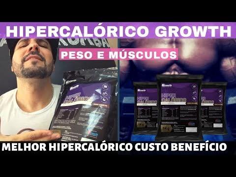 HIPERCALÓRICO GROWTH O MELHOR HIPERCALÓRICO BRASILEIRO CUSTO BENEFÍCIO NACIONAL DÁ PESO E MÚSCULOS