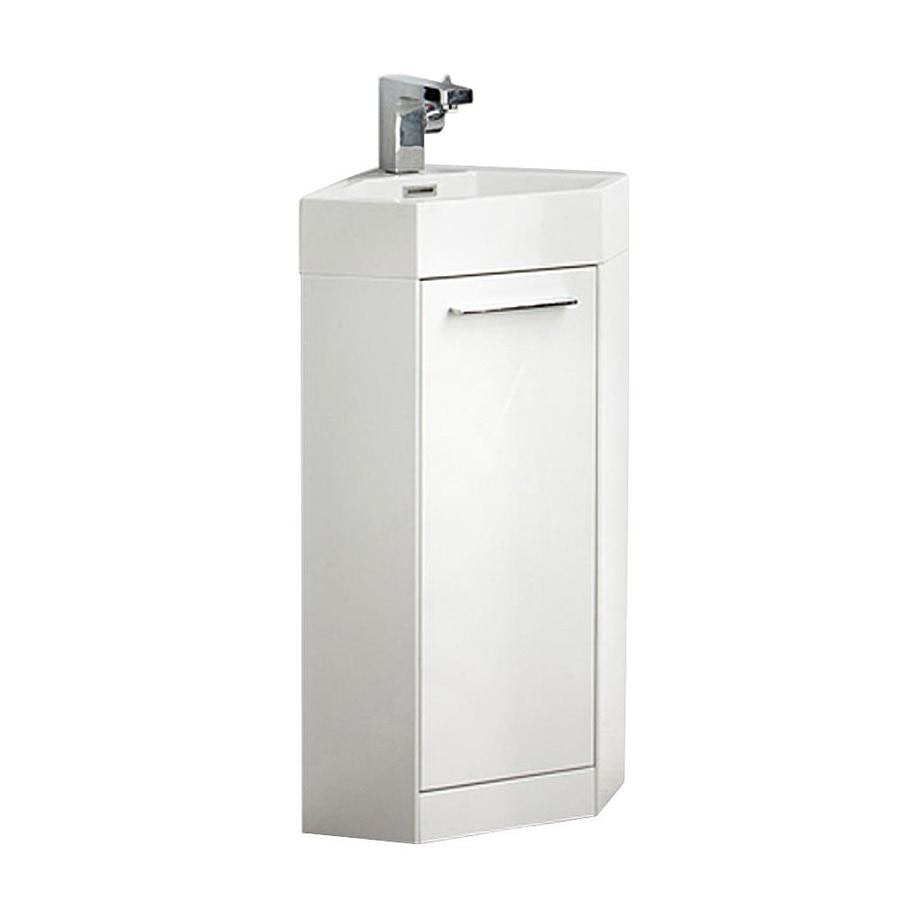 Fresca Lucido 14 In White Single Sink Bathroom Vanity With White Acrylic Top Faucet Included In The Bathroom Vanities With Tops Department At Lowes Com