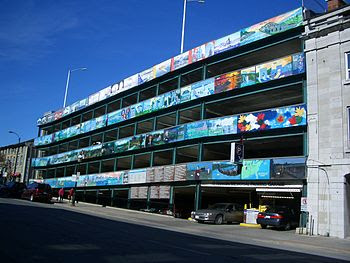 A multi-story car park in Kingston, Ontario, C...