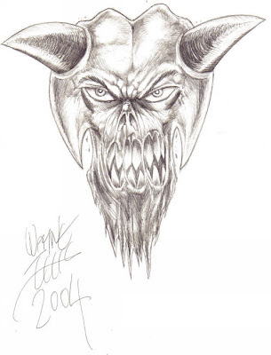 Demon - Drawn In Biro For Artistic Effect