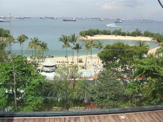 siloso beach resort sentosa-露台上看到的海滩