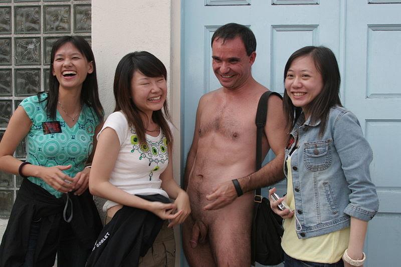 Naked man at Folsom Street Fair