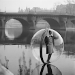 Bubble, Fashion Series Featuring a Giant See-Through Ball with the Model Inside (1963)