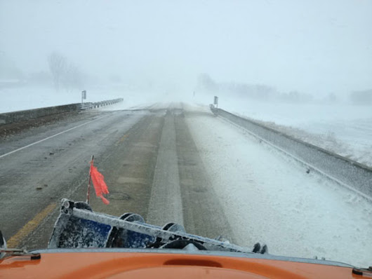 New GPS system collects road information from DOT plow trucks