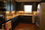 Kitchen Fascinating Painted Black Cabinets Design - Black Kitchen ...