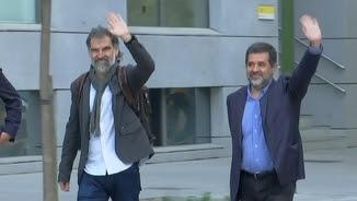 Cuixart i Sànchez, quan van anar a declarar al Suprem, l'octubre passat