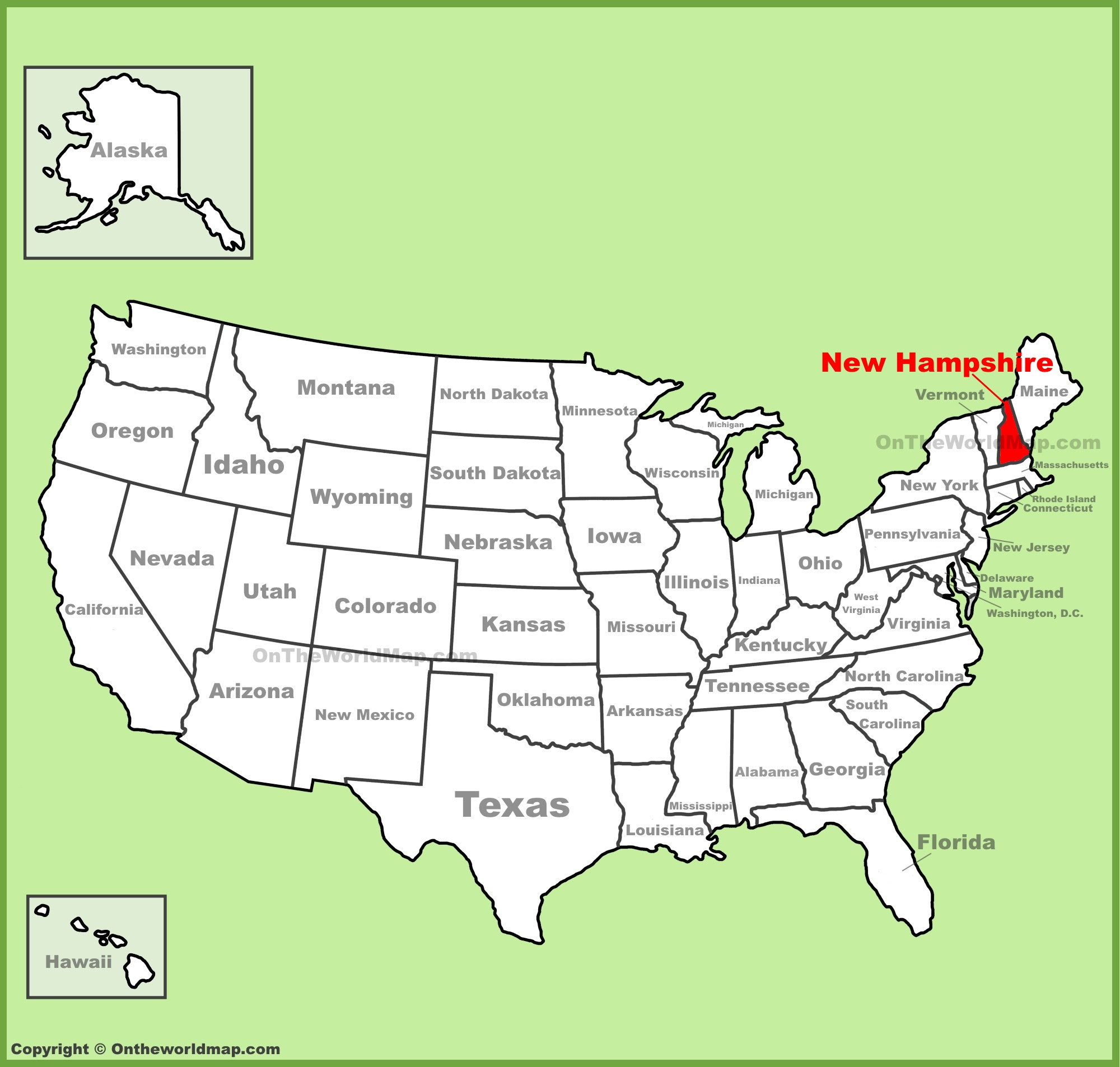 Nh Map Of Towns, Full Size  C2 B7 New Hampshire Location Map, Nh Map Of Towns