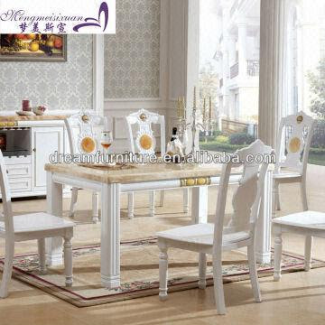 Modern Square Wooden Marble Top Dining Table | Global Sources