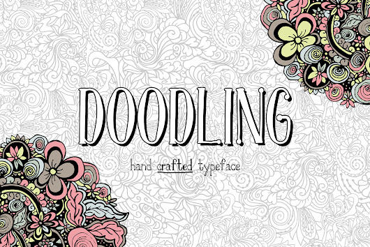 Doodling - hand crafted typeface by ilo | Font Bundles