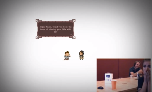 Man makes video game to propose to his girlfriend
