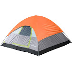 Tahoe Gear Powell 3 Person 3 Season Dome Camping Frame Tent, Green and Orange by VM Express