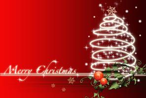 赤ポストカードjpgクリスマスカード1 無料素材お洒落