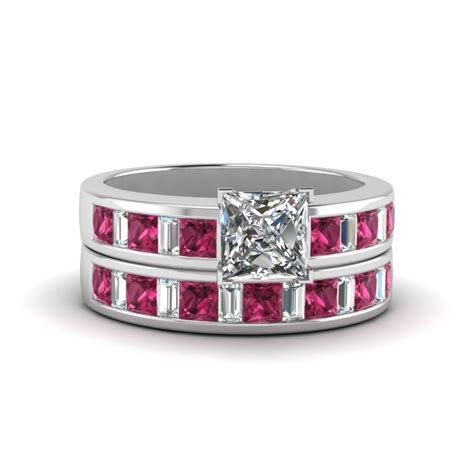 Princess Cut Channel Baguette And Princess Accent Diamond