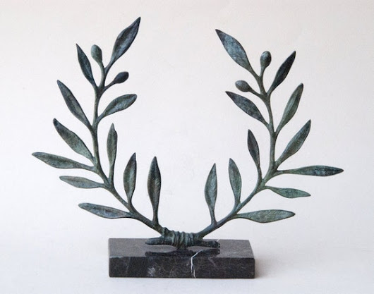 Olive Wreath Bronze Sculpture Metal Art Greek by GreekMythos