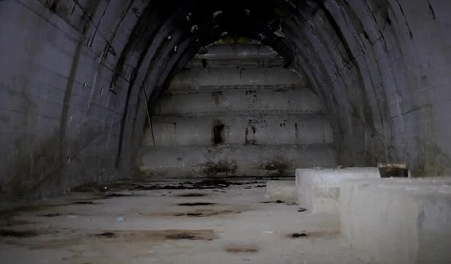 Significant: Documentary maker Andreas Sulzer, who is leading the excavations, said that the site is 'most likely the biggest secret weapons production facility of the Third Reich. Above,B8 Bergkristall