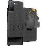 Case with Clip for Galaxy S21, Nakedcellphone [Black Tread] Kickstand Cover with [Rotating/Ratchet] Belt Hip Holster for Samsung Galaxy S21 Phone
