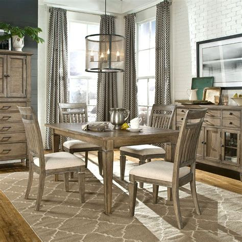 legacy brownstone village  piece dining table set