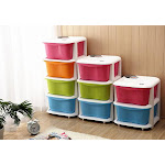 Home Storage Candy Color Plastic Assembly Multi-Layer Drawer