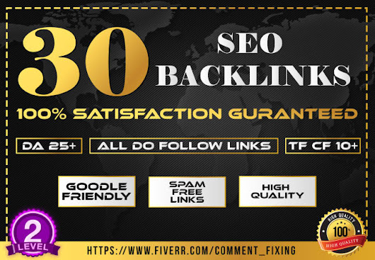 I will build 30 strong seo backlinks