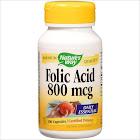 Natures Way Folic Acid, 800 mcg, Capsules, Certified Potency - 100 capsules